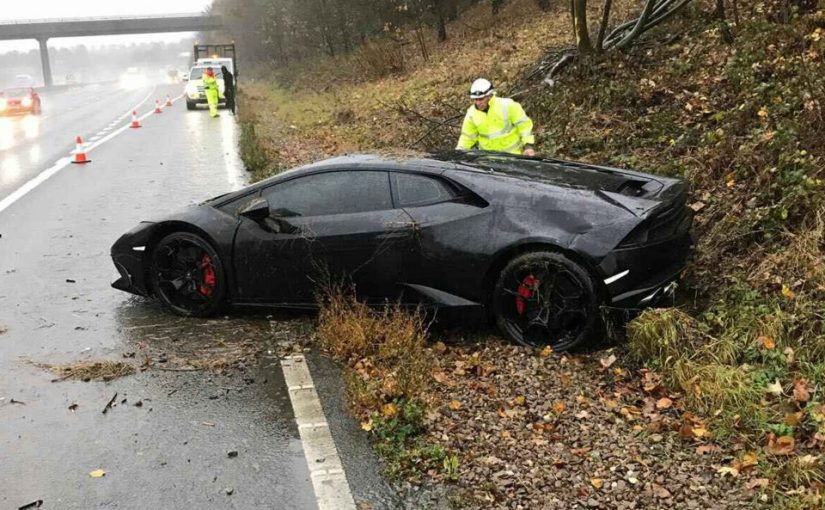'Don't worry, I've got three more' Footballer after crashing his £190k Lamborghini